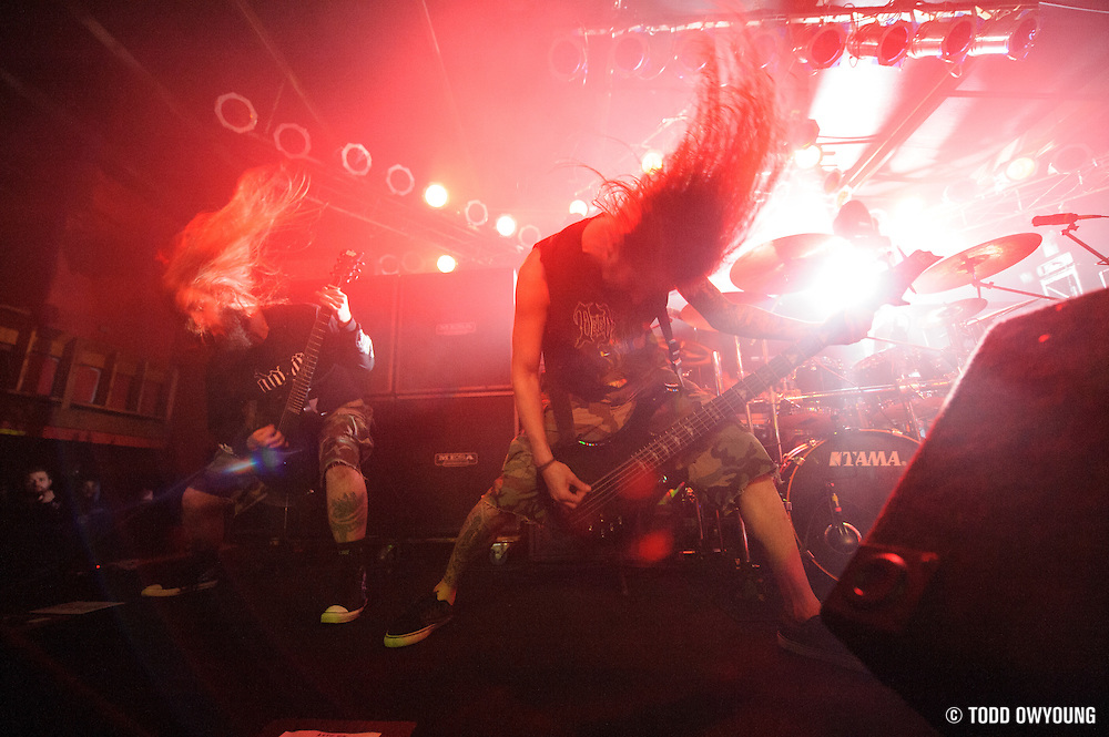 Suicide Silence performing in support of Machine Head at Pop's on January 17, 2012. (Todd Owyoung)