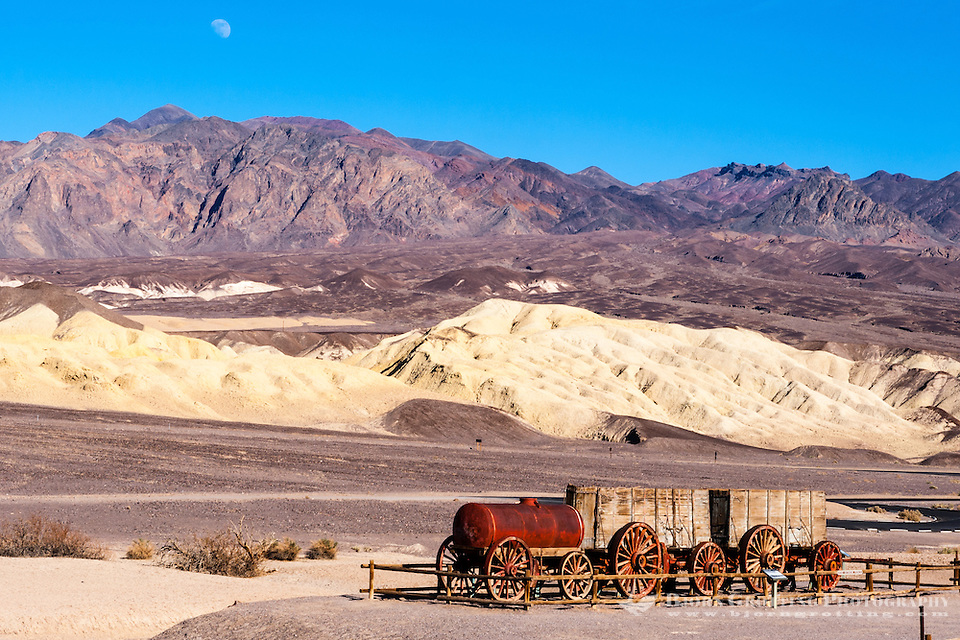 United States, California, Death Valley. The Harmony Borax Works are located in Death Valley at Furnace Creek Springs. An old wagon. (Photo Bjorn Grotting)