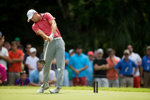 Jordan Spieth tees off at the 7th hole. PGA Golf: 2014 The Players Championship Sunday round 4 TPC Sawgrass/Ponte Vedra, FL 5/11/2014 X158187 TK4 Credit: Darren Carroll (Darren Carroll/Sports Illustrated)