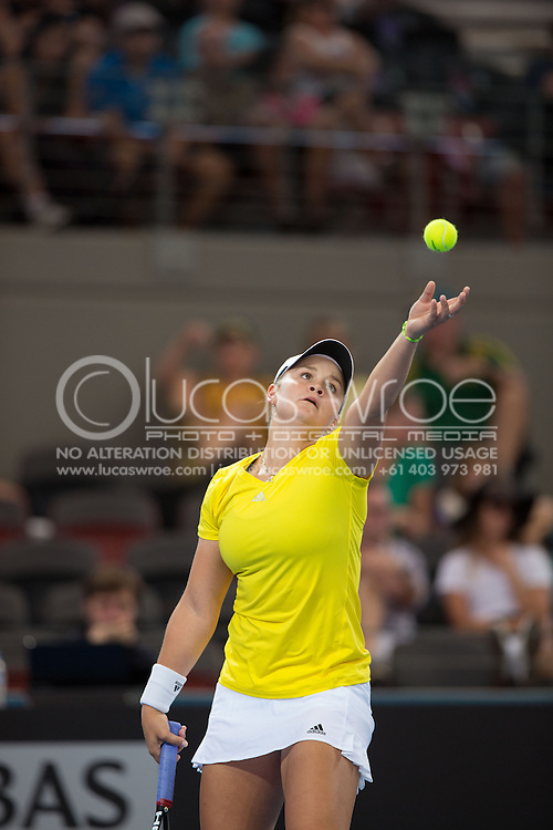 Ashleigh Barty (AUS), April 20, 2014 - TENNIS : Fed Cup, Semi-Final, Australia v Germany. Pat Rafter Arena, Brisbane, Queensland, Australia. Credit: Lucas Wroe (Lucas Wroe)