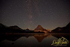 "Milky Way over Two Medicine Lake in Glacier National Park (© Daryl Hunter's ""The Hole Picture""/Daryl L. Hunter)"