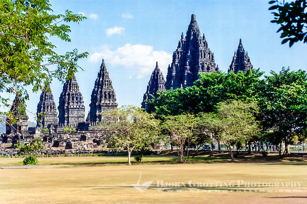 Java, Central Java. Prambanan is a ninth century Hindu temple compound in Central Java, Indonesia. (Bjorn Grotting)
