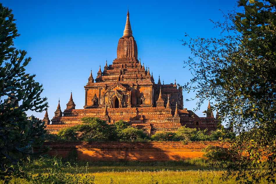 View of the Sulamani Temple in Bagan, Myanmar (Burma) it is located close to the  village of Minnanthu. This is one of the most visited temples in Bagan. It was built in 1183. (Daniel Korzeniewski)