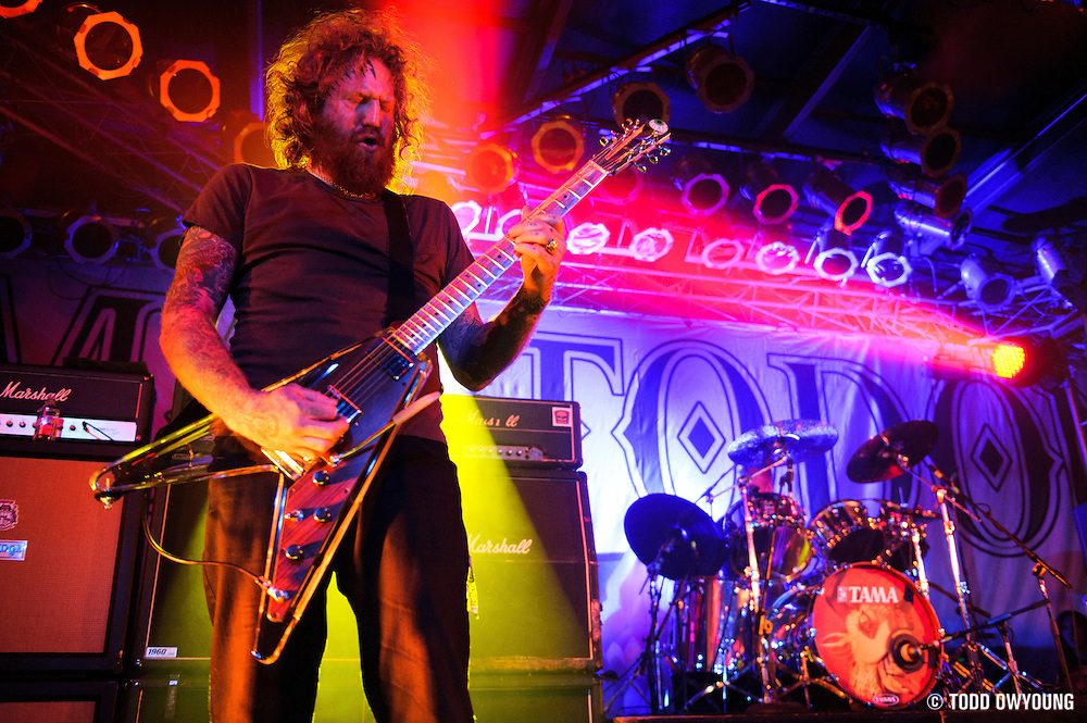 Mastodon performing in concert at Pop's in Sauget, Illinois on November 13, 2011. © Todd Owyoung. (Todd Owyoung)