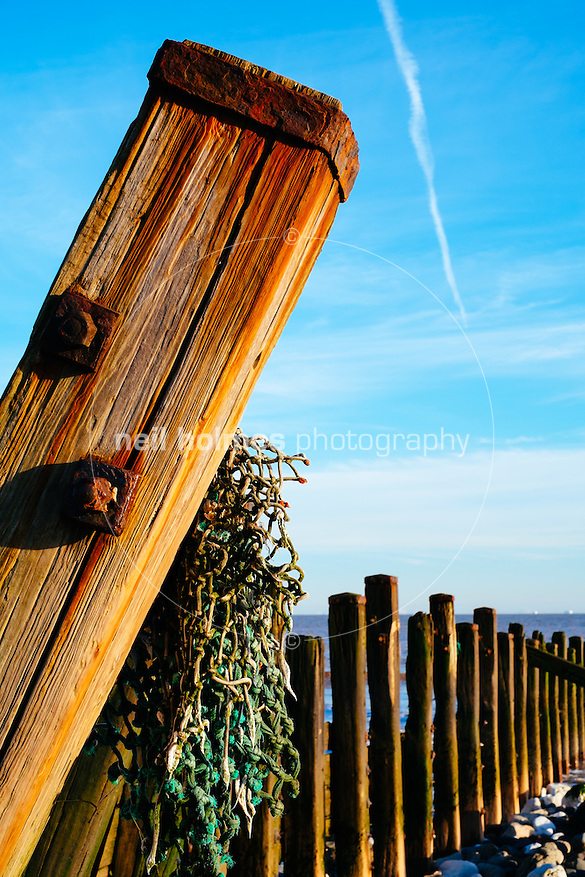 Spurn Head, Spurn, East Yorkshire, United Kingdom, 06 December, 2014. Pictured: Old sea defences (Neil Holmes)