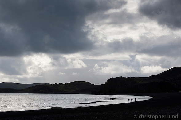 Members of the German Piraten Partei by Lake Kleifarvatn on the Reykjanes Peninsula, Iceland. (Christopher Lund/©2011 Christopher Lund)