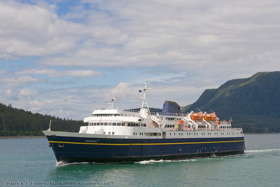 Southeast Alaska photos: Alaska marine ferry MV/Matanuska in Lynn Canal, near Auke Bay, Southeast Alaska (Patrick J. Endres / AlaskaPhotoGraphics.com)
