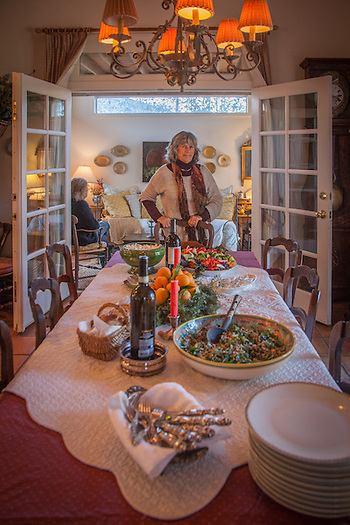 New Year's day celebration at the home of antique dealer, Pat Samoun in Calistoga, CA (Clark James Mishler)