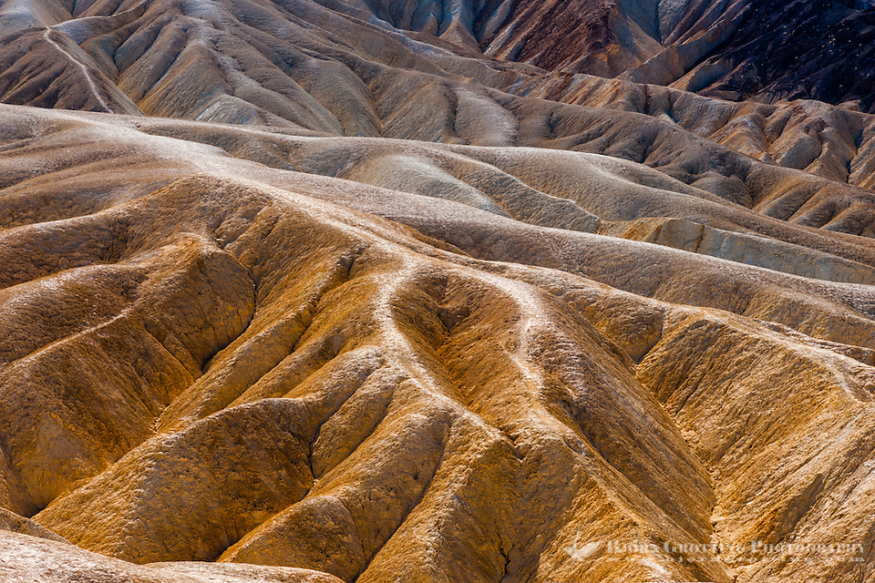 United States, California, Death Valley. Zabriskie Point is a part of Amargosa Range located in east of Death Valley, noted for its erosional landscape. (Photo Bjorn Grotting)