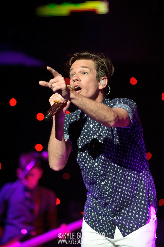 "WASHINGTON, DC - January 31st,  2013 - Nate Ruess of fun. (right) and Nate Harold perform at DAR Constitution Hall in Washington, D.C. The band is still riding high off of the success of their sophomore album ""Some Nights"" which featured with hits ""We Are Young"" and the title track. (Photo by Kyle Gustafson/For The Washington Post) (Kyle Gustafson/For The Washington Post)"
