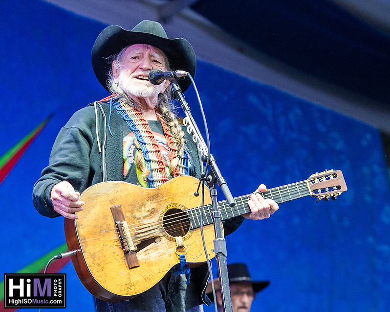 Willie Nelson performs at the 2013 Jazz and Heritage Festival in New Orleans, LA on May 3, 2013.  © HIGH ISO Music, LLC / Retna, Ltd. (HIGH ISO Music, LLC)