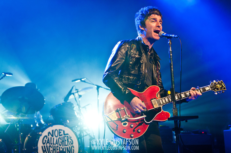 WASHINGTON, DC - March 29th, 2012 - Former Oasis lead guitarist/songwriter Noel Gallagher performs at the Warner Theater in Washington, D.C. with his new act, Noel Gallagher's High Flying Birds.  Gallagher played a career-spanning, 20 song set featuring new songs  and old favorites from Oasis.(Photo by Kyle Gustafson/For The Washington Post) (Kyle Gustafson/FTWP)