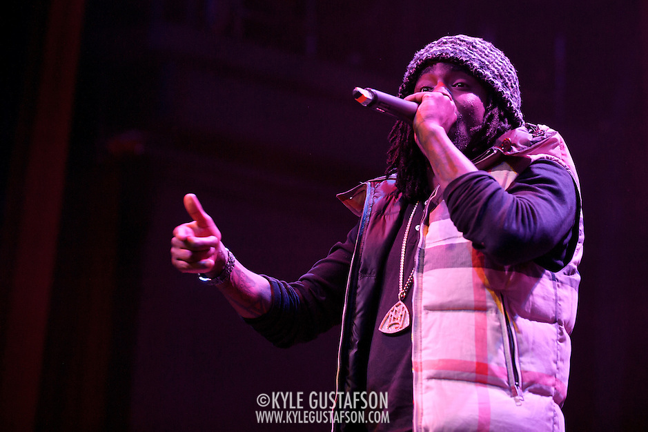 SILVER SPRING, MD - January 1st, 2012 - Rapper and D.C. native Wale performs at the Fillmore Silver Spring in Silver Spring, MD. Wale released his sophomore album, Ambition, in November. (Photo by Kyle Gustafson/For The Washington Post). (Kyle Gustafson/FTWP)