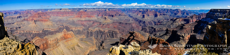 United States, Arizona, Grand Canyon. The views from Maricopa Point cover 180° of the Grand Canyon. Panorama view. (Photo Bjorn Grotting)