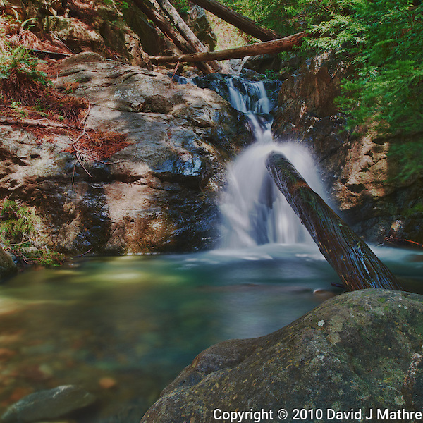 Redwood Gulch Waterfall, HDR Exercise. Image(s) taken with a Nikon D3x and 24 mm f/3.5 PC-E lens Singh-Ray filters (ISO 100, 24 mm, f/16, 2.5 to 30 sec). Raw image processed with Capture One Pro, Nik HDR Efex Pro - Realistic Gradient. (David J Mathre)