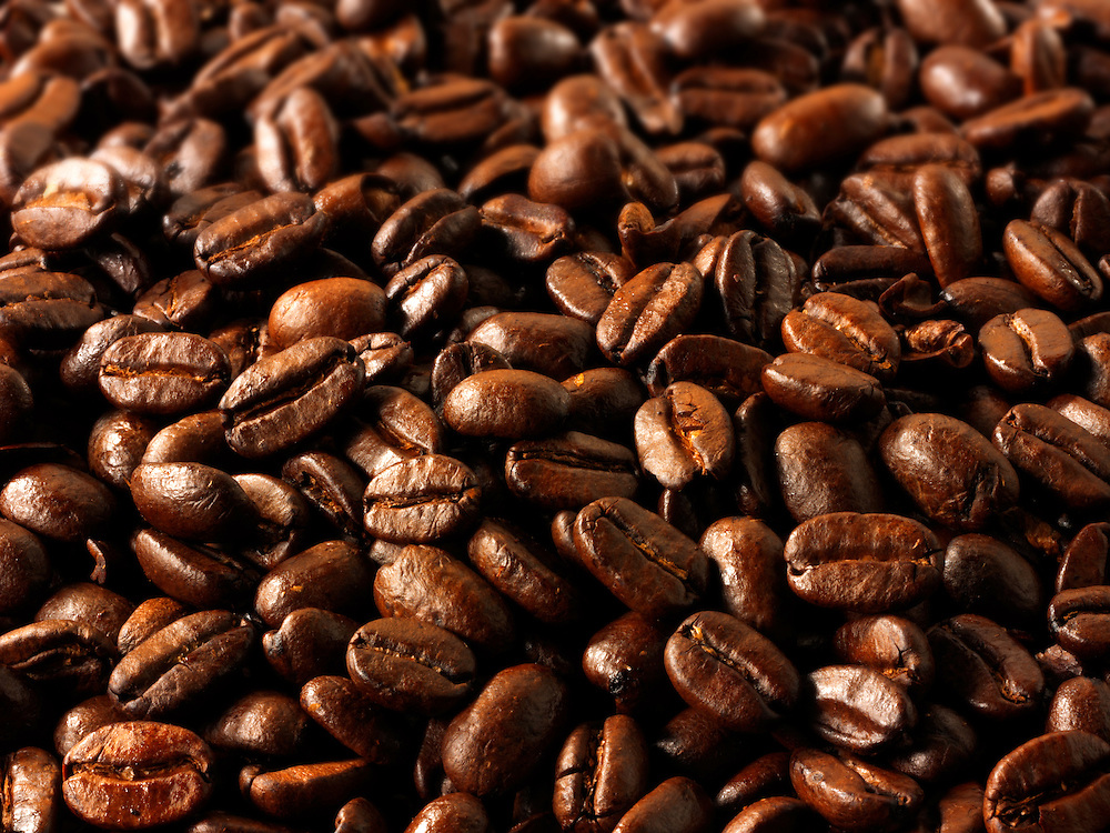 Papua New Guinea fair trade coffee beans stock Photos (Paul Williams)
