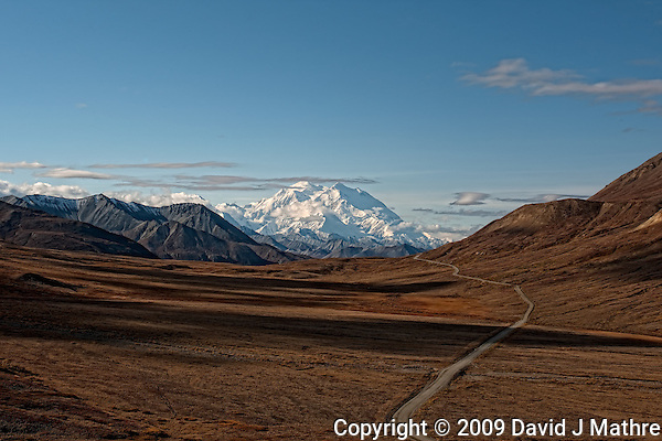 Road to Denali. Image taken with a Nikon D3x and 45 mm f/2.8 PC-E lens (ISO 100, 45 mm, f/16, 1/250 sec). (David J. Mathre)