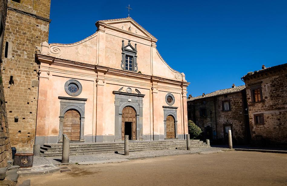 CIVITA DI BAGNOREGIO ITALY - CIRCA MAY 2015: Historic church in Church in Civita di Bagnoregio. (Daniel Korzeniewski)