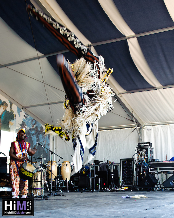 Ivoire Spectacle playing at Jazz Fest 2011 in New Orleans, LA on day 5. (Golden G. Richard III)