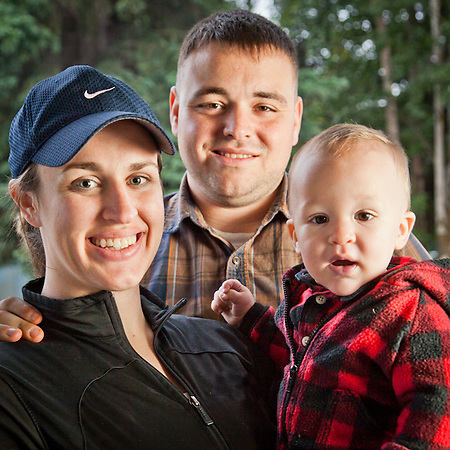 Monica and Steve Thigpin and their son, Jesse, at Valley of the Moon Park, Anchorage (Clark James Mishler)