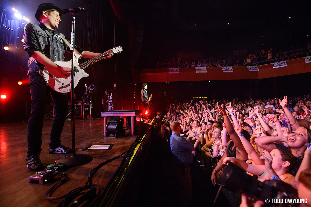 "Fall Out Boy performing to a sold out crowd at the Pageant in St. Louis on June 28, 2013 on their tour for ""Save Rock and Roll."" (Todd Owyoung)"