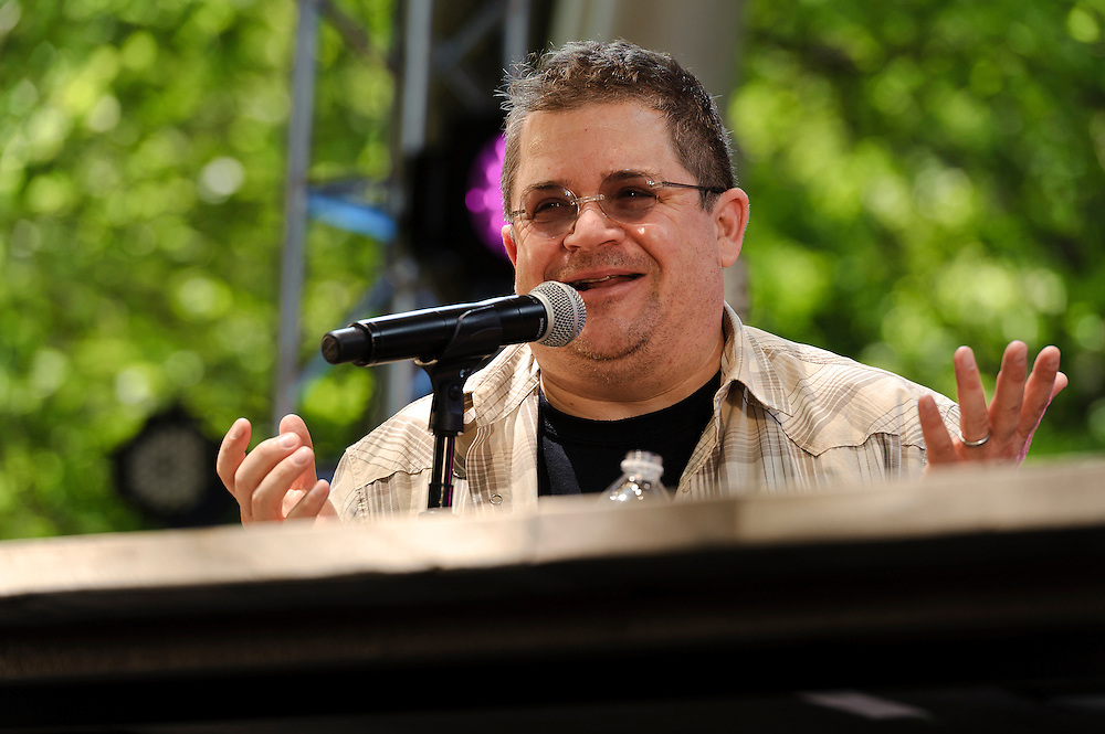 Photos of comedian Patton Oswalt, celebrity chef Eddie Huang and celebrity chef Tom Colicchio at The Great GoogaMooga festival at Prospect Park in Brooklyn, NY. May 20, 2012. Copyright © 2012 Matthew Eisman. All Rights Reserved. (Photo by Matthew Eisman/WireImage)