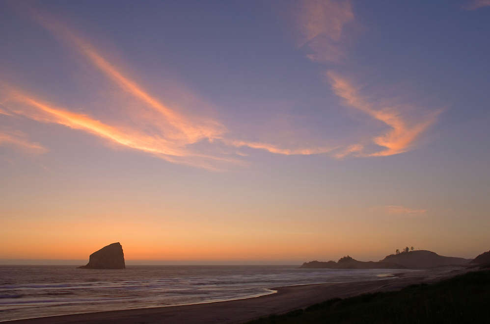 Haystack Rock and Cape Kiwanda at sunset; Pacific City, Oregon Coast. (Greg Vaughn/© Greg Vaughn)