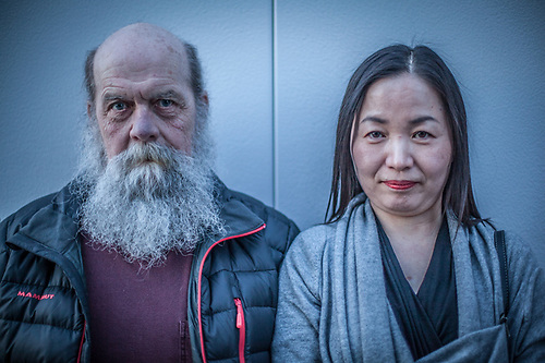Artists Esther Euimu Hong and Don Moore, Anchorage (© Clark James Mishler)
