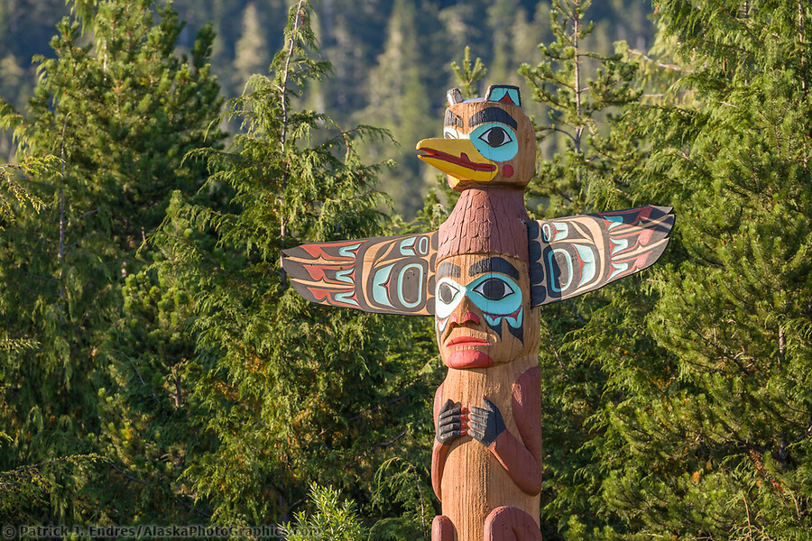 Ketchikan Alaska photos: Saxman Village holds the largest collection of totem poles in the world, Ketchikan, Alaska. (Patrick J. Endres / AlaskaPhotoGraphics.com)