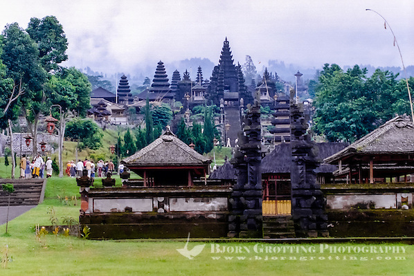 Bali, Karangasem, Besakih. The Mother Temple of Besakih, or Pura Besakih, on the slopes of Mount Agung, is the most important, the largest and holiest temple on Bali. (Photo Bjorn Grotting)
