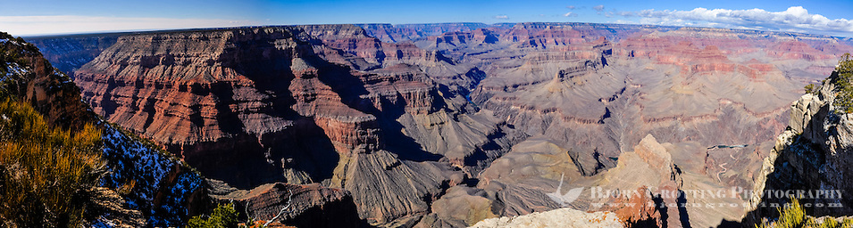 United States, Arizona, Grand Canyon. Pima Point, one of the best places on the West south rim to see the canyon and the Colorado River. Panorama view. (Photo Bjorn Grotting)