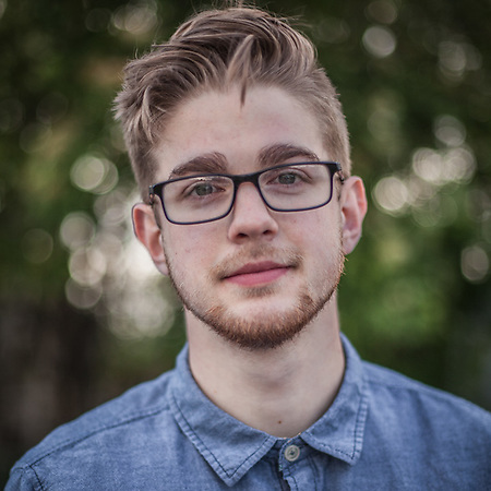 """Josh Springer, age 20, is a student and a member of the band Harlequin State.  The words that best describe me are """"Busy but organized.""""  Do you make your bed in the morning?  """"I clean my room every morning but, no, I don't make my bed.""""  gcfanatic211@hotmail.com (© Clark James Mishler)"""