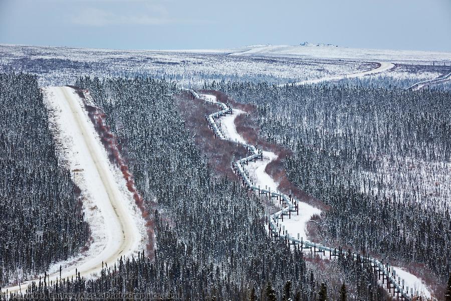 Trans Alaska Oil Pipeline, James Dalton Highway, Arctic, Alaska. (Patrick J Endres / AlaskaPhotoGraphics.com)
