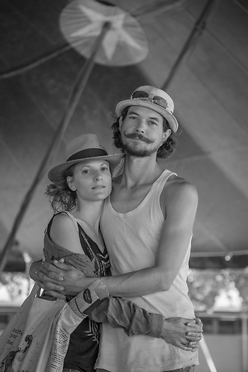 """We are stunned by the enthusiam of the American people...they are very positive.  I think French people complain too much...forgetting what is great about France.""  -French jugglers Clementine and Bastian Stadler work with the Flynn Creek Circus  in Calistoga (Clark James Mishler)"