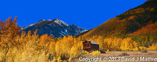 Lone Building and Fall Colors (David J. Mathre)