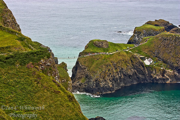 A view from Northern Ireland on the Antrim Coast of the Carrick-a-Rede Rope Bridge. (Ian C Whitworth)
