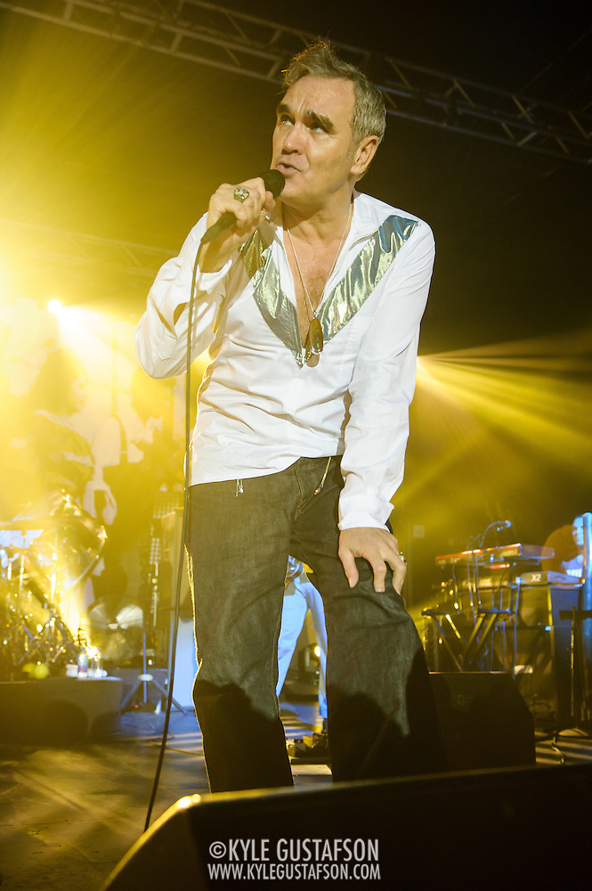 "Morrissey performs at Echostage in Washington, D.C. as part of his ""World Peace Is None of Your Business"" tour. (Photo by Kyle Gustafson) (Kyle Gustafson/Photo by Kyle Gustafson)"