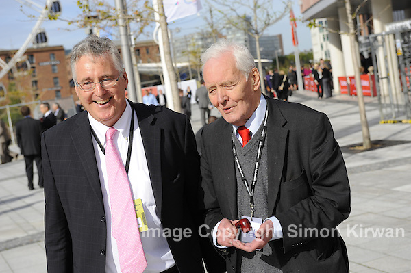 Tony Benn at Labour Conference 2011, Liverpool - photo by Simon Kirwan