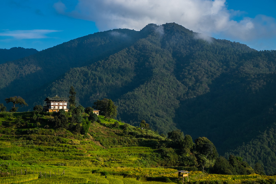 THIMPU, BHUTAN - CIRCA October 2014: House in the countryside in Bhutan (Daniel Korzeniewski)