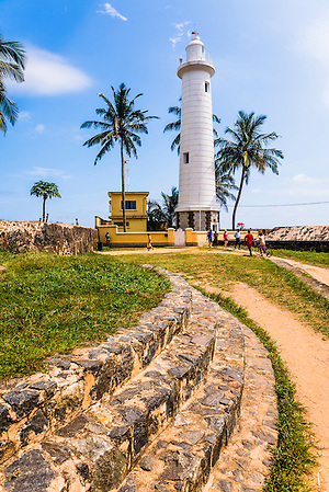 Galle lighthouse in the Old Town of Galle, UNESCO World Heritage Site, Sri Lanka, Asia. This is a photo of Galle lighthouse in the Old Town of Galle, a UNESCO World Heritage Site in Sri Lanka, Asia.