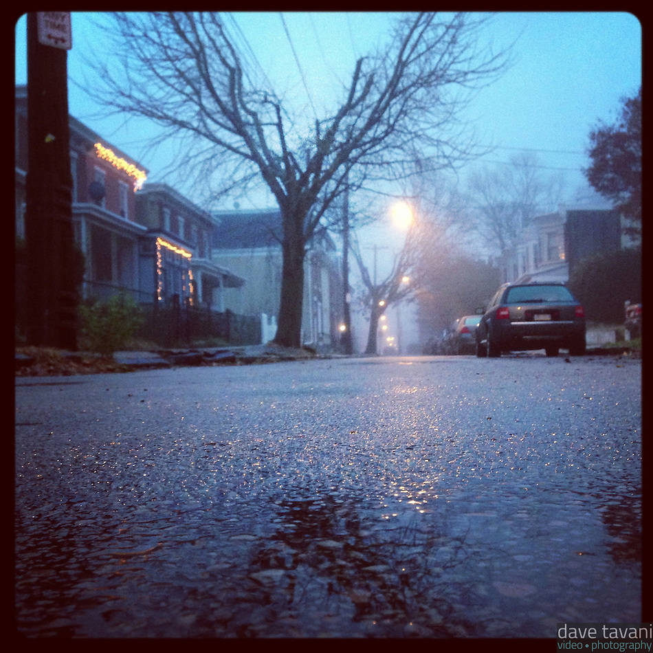 It is another foggy and wet morning on Duval Street in the Germantown section of Philadelphia, December 10, 2012 (Dave Tavani)