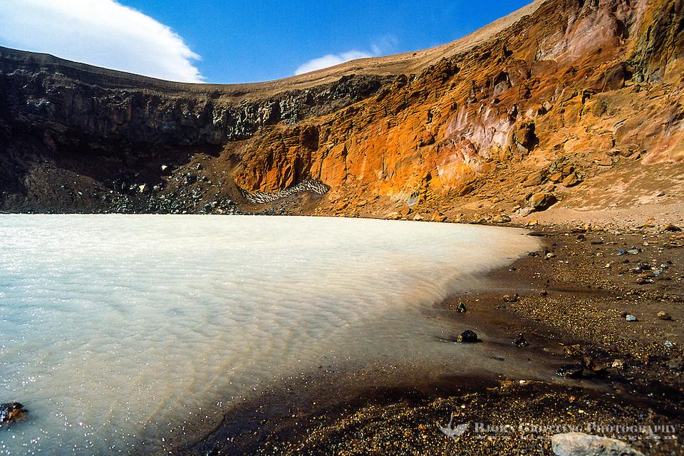 Iceland. Viti explosion crater on the north east shore of Oskjuvatn, Askja. (Photo Bjorn Grotting)