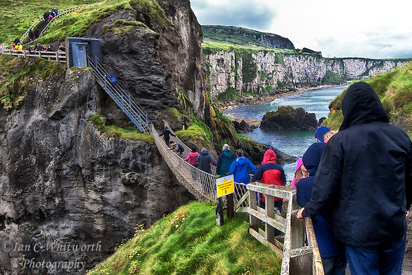 A scenic view of the Carrick-a-Rede Rope Bridge on the Antrim Coast in Northern Ireland. (Ian C Whitworth)