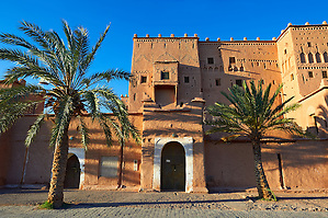 Exterior of the mud brick Kasbah of Taourirt, Ouarzazate, Morocco, built by Pasha Glaoui. A Unesco World Heritage Site (Paul Williams/Photographer Paul Williams)