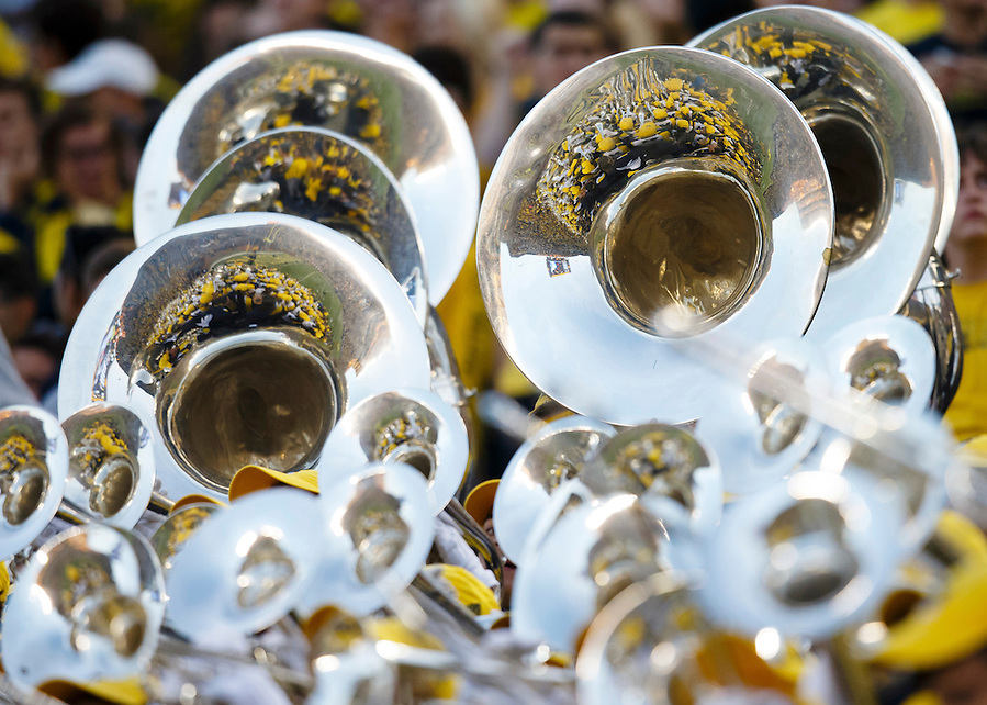 Oct 10, 2015; Ann Arbor, MI, USA; Michigan Wolverines marching band during the game against the Northwestern Wildcats at Michigan Stadium. Mandatory Credit: Rick Osentoski-USA TODAY Sports (Rick Osentoski/Rick Osentoski-USA TODAY Sports)