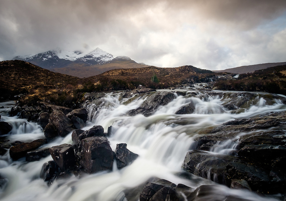 SCOTLAND - CIRCA APRIL 2016: The Sligachan Waterfalls in Skye an Island in Scotland (Daniel Korzeniewski)