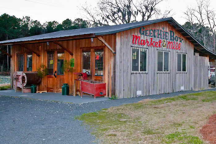 Geechie Boy Market and Mill sits on South Carolina highway 174 in Edisto Island. (Kathryn Wagner)