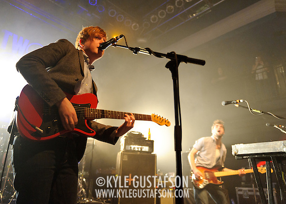 WASHINGTON, D.C. - January 20th, 2011: Irish rock band 2 Door Cinema Club perform at the 9:30 Club in Washington, D.C. The band is opening for Tokyo Police Club on a two week tour of the United States.  (Photo by Kyle Gustafson/For The Washington Post) (Photo by Kyle Gustafson / For The Washington Post)