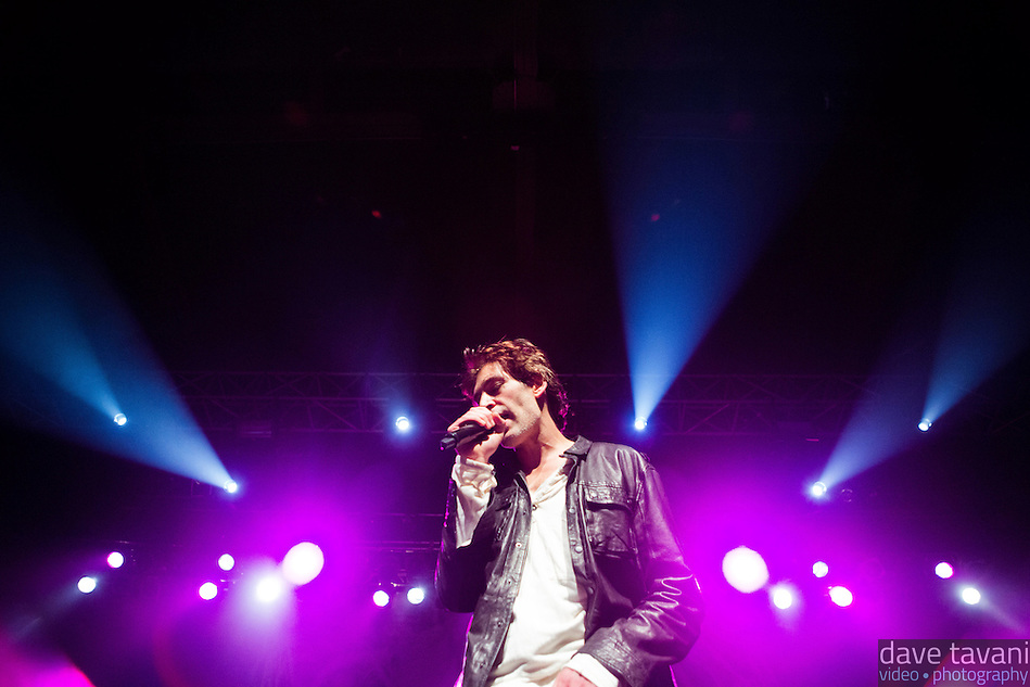 """Matisyahu performs during his """"Festival of Light"""" tour at the Electric Factory in Philadelphia, December 12, 2012. (Dave Tavani)"""