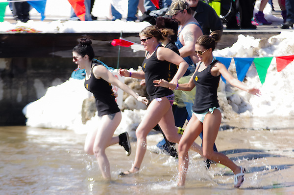 Special Olympics Polar Plunge at Lake Decatur, Decatur, Illinois, March 7, 2015. Photo: George Strohl (Strohl Photography/Photo: George Strohl)